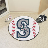 "Seattle Mariners Baseball Mat 27"" diameter"