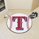 """Texas Rangers Baseball Mat 27"""" diameter"""