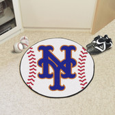 "New York Mets Baseball Mat 27"" diameter"