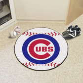 "Chicago Cubs Baseball Mat 27"" diameter"