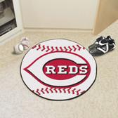 """Cincinnati Reds Baseball Mat 27"""" diameter"""