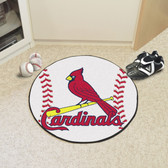 "St. Louis Cardinals Baseball Mat 27"" diameter"