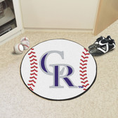 "Colorado Rockies Baseball Mat 27"" diameter"