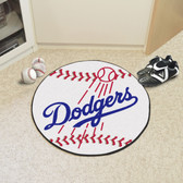 "Los Angeles Dodgers Baseball Mat 27"" diameter"