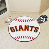 "San Francisco Giants Baseball Mat 27"" diameter"