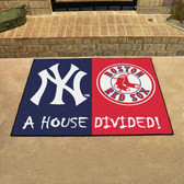"New York Yankees - Boston Red Sox House Divided Rugs 33.75""x42.5"""