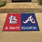 "Cardinals - Braves Divided Rugs 33.75""x42.5"""