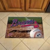 "Atlanta Braves Scraper Mat 19""x30"" - Ball"