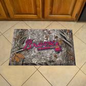 """Atlanta Braves Scraper Mat 19""""x30"""" - Camo"""