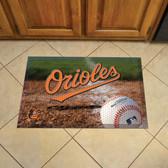 """Baltimore Orioles Scraper Mat 19""""x30"""" - Ball"""