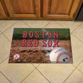 "Boston Red Sox Scraper Mat 19""x30"" - Ball"