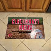 """Cincinnati Reds Scraper Mat 19""""x30"""" - Ball"""