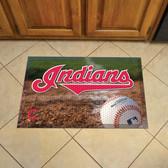 """Cleveland Indians Scraper Mat 19""""x30"""" - Ball"""