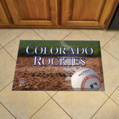 "Colorado Rockies Scraper Mat 19""x30"" - Ball"
