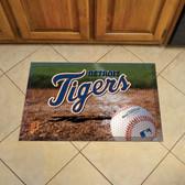 """Detroit Tigers Scraper Mat 19""""x30"""" - Ball"""