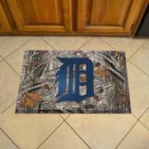 """Detroit Tigers Scraper Mat 19""""x30"""" - Camo"""