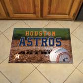 "Houston Astros Scraper Mat 19""x30"" - Ball"