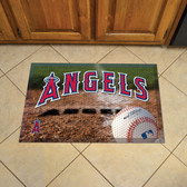 "Los Angeles Angels Scraper Mat 19""x30"" - Ball"