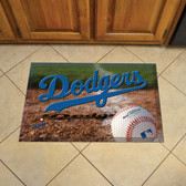 "Los Angeles Dodgers Scraper Mat 19""x30"" - Ball"