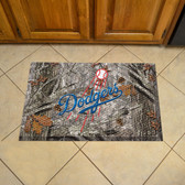 "Los Angeles Dodgers Scraper Mat 19""x30"" - Camo"