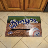 "Milwaukee Brewers Scraper Mat 19""x30"" - Ball"