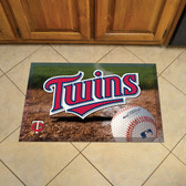 "Minnesota Twins Scraper Mat 19""x30"" - Ball"