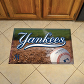 "New York Yankees Scraper Mat 19""x30"" - Ball"