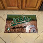 """Oakland Athletics Scraper Mat 19""""x30"""" - Ball"""