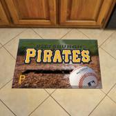 """Pittsburgh Pirates Scraper Mat 19""""x30"""" - Ball"""