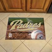 "San Diego Padres Scraper Mat 19""x30"" - Ball"