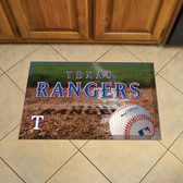 """Texas Rangers Scraper Mat 19""""x30"""" - Ball"""