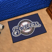"Milwaukee Brewers Starter Rug 19""x30"""