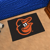 "Baltimore Orioles Cartoon Bird Starter Rug 19""x30"""
