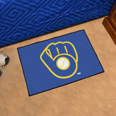 "Milwaukee Brewers ""Ball in Glove"" Starter Rug 19""x30"""