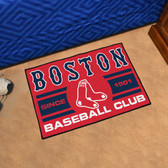 "Boston Red Sox Baseball Club Starter Rug 19""x30"""