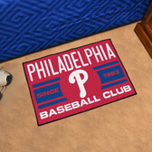 "Philadelphia Phillies Baseball Club Starter Rug 19""x30"""