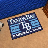 "Tampa Bay Devil Rays Baseball Club Starter Rug 19""x30"""