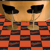 "Baltimore Orioles Carpet Tiles 18""x18"" tiles"