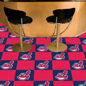 "Cleveland Indians Carpet Tiles 18""x18"" tiles"