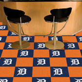 """Detroit Tigers Carpet Tiles 18""""x18"""" tiles"""