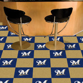 "Milwaukee Brewers Carpet Tiles 18""x18"" tiles"
