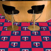 "Minnesota Twins Carpet Tiles 18""x18"" tiles"