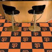 "San Francisco Giants Carpet Tiles 18""x18"" tiles"