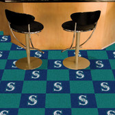 "Seattle Mariners Carpet Tiles 18""x18"" tiles"