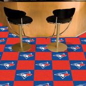 "Toronto Blue Jays Carpet Tiles 18""x18"" tiles"
