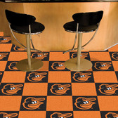 "Baltimore Orioles Cartoon Bird Carpet Tiles 18""x18"" tiles"