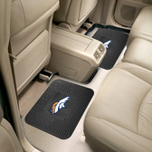 """Denver Broncos Backseat Utility Mats 2 Pack 14""""x17"""""""