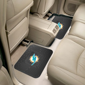 """Miami Dolphins Backseat Utility Mats 2 Pack 14""""x17"""""""