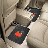 "Cleveland Browns Backseat Utility Mats 2 Pack 14""x17"""