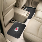 "Kansas City Chiefs Backseat Utility Mats 2 Pack 14""x17"""